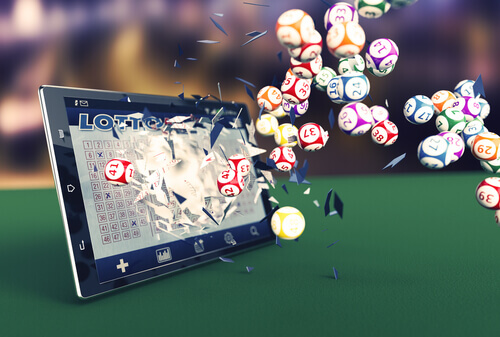 iPad with lotto balls - Online Lottery Australia