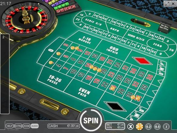 Online french roulette versions