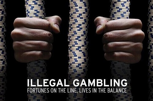Bust of illegal gambling online
